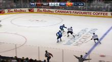 TV viewers of NHL games are now seeing a virtual overlay on rink-side boards that allow a single brand at a time to appear to take over all of the boards in the Air Canada Centre. (NHL)