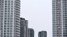 Various condominiums are clustered along Fort York Blvd. in downtown Toronto on Feb 9 2015. (Fred Lum/The Globe and Mail)