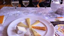 Cheese (clockwise from 7 o'clock) is Petit Mothais, France, goat; Pierre Robert, France, cow; Pecorino Foglie di Noce, Italy, sheep; Bra Tenero, Italy, cow; Beaufort, France, cow; Gouda, the Netherlands, cow; and Stilton, Britain, cow. (Sue Reidl for The Globe and Mail/Sue Reidl for The Globe and Mail)
