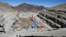 Barrick Gold's Pascua-Lama mine site in the Andes on the Chilean-Argentine border. Canadian gold mining executives are obsessed with the concept of bigness. The problem with bigness is that it translates into trouble when it's extended to corporate development. Big projects are big gambles. (Barrick Gold)
