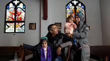 The Dalaa family are photographed at St. Joseph's College in Edmonton on Sunday, Dec. 27, 2015. Alberta will resettle between 2,500 and 3,000 Syrian refugees as a part of the Canadian government's commitment to resettle tens of thousands this year. (Amber Bracken for The Globe and Mail)