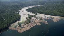 The tailings pond collapse at Mount Polley gold and copper mine last August spilled 10 million cubic metres of contaminated water into the waterways below. (JONATHAN HAYWARD/THE CANADIAN PRESS)