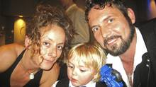 Jenna Morrison, 38, her son Lucas, 5, and partner Florian Schuck. Ms. Morrison was the Toronto cyclist killed Monday Nov 7, 2011 in a collision with a truck. (Facebook photo/Facebook photo)