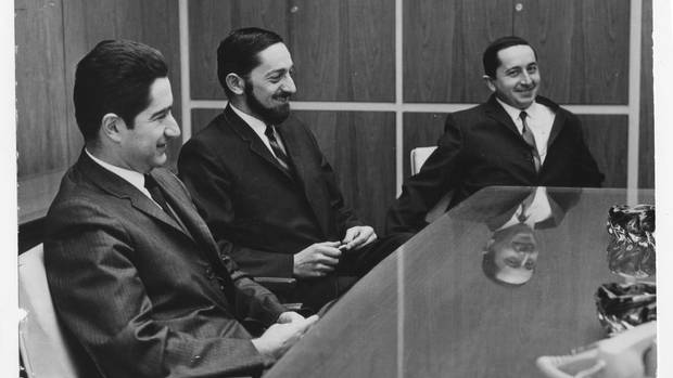 The Reichmann brothers, from left to right: Abert, Paul and Ralph in 1965. Paul Reichmann was one of five brothers who emigrated to Canada in the 1950s from Tangier, Morocco. (Al Moffat For The Globe and Mail)