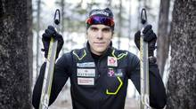 Canadian cross country skier Len Valjas is photographed after a day of training at the Canmore Nordic Centre in Canmore, Alberta on Friday, November 15, 2013. (Chris Bolin For The Globe and Mail)