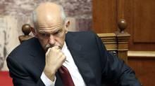 Greece's Prime Minister George Papandreou. (YIORGOS KARAHALIS/REUTERS)