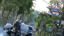 Overloaded scooters in Ubud, Bali. (Melanie Chambers)