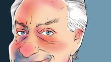 Illustration of Postmedia Network chief executive officer Paul Godfrey. (ANTHONY JENKINS/THE GLOBE AND MAIL)