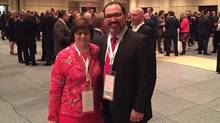 Patricia Sorbara with Glenn Thibeault at a Liberal fundraiser in March. (Twitter)