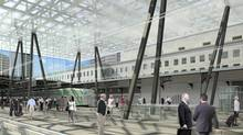 Plans call for replacing the central section of the original shed roof at Union Station with a three-metre-deep, box-like glass ceiling that will appear to float 15.25 metres above the tracks and platforms.
