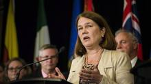 Federal Health Minister Jane Philpott speaks during a health ministers' meeting in Toronto on Tuesday, October 18, 2016. (Christopher Katsarov/THE CANADIAN PRESS)