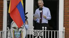 Julian Assange, founder of WikiLeaks, has been in Ecuador embassy in London for two years. (Kirsty Wigglesworth/Associated Press)