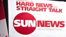 The Sun News Channel logo is displayed during a news conference in Toronto, June 15, 2010. (NATHAN DENETTE/THE CANADIAN PRESS)