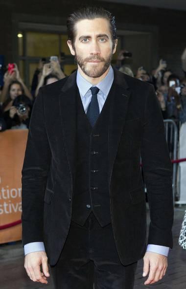 Jake Gyllenhaal is gyllenfacin' at the premiere of Enemy at the Toronto International Film Festival on Sunday. (Mark Blinch/Reuters)