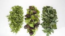 The nutritional and health benefits of leafy greens are impressive. They offer fibre, vitamins C and K, folate, calcium, magnesium, potassium and beta-carotene, and have been linked to a lower risk of heart disease, type 2 diabetes and certain cancers. (Deborah Baic/The Globe and Mail)