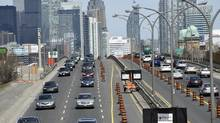 In its 48 years the Gardiner Expressway has seen a lot of traffic, yet in that same time period not much has been done to improve transit. (Fred Lum/The Globe and Mail)
