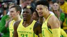Dylan Ennis #31 and Dillon Brooks #24 of the Oregon Ducks. (Ethan Miller/Getty Images)