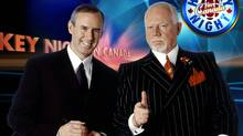 Ron MacLean (left) and Don Cherry on CBC's Hockey Night in Canada.funding. (file photo) (THE CANADIAN PRESS)