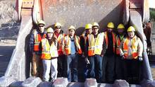 Selkirk First Nation students train with Yukon College at Capstone Minto mine to become heavy equipment operators. (Yukon College)