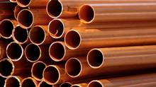 Prices for copper, which is used for a wide variety of industrial and construction purposes, fell to $1.97 (U.S.) a pound on Monday as China's stock market posted more losses. (CHRIS RATCLIFFE/BLOOMBERG)