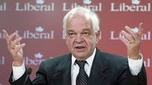 Liberal MP John McCallum holds a news conference in Ottawa on Feb. 23, 2012. (Adrian Wyld/Adrian Wyld/The Canadian Press)