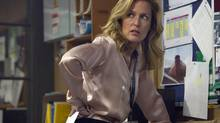 Gillian Anderson as DSI Stella Gibson in The Fall. (Steffan Hill/Artists Studio)