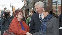 Bloc Quebecois Leader Gilles Duceppe campaigns Friday, April 29, 2011 in Magog, Que. (Jacques Boissinot/The Canadian Press/Jacques Boissinot/The Canadian Press)