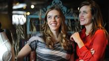 Kendall, left, and Justine Barber started Poppy Barley, which lets customers input up to five measurements on its website to design fitted, comfortable footwear to be sent to their door. (Melissa Stevenson For The Globe and Mail)