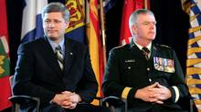 Harper and Hillier: Canadian foreign policy has moved away from soft power. (CHRIS WATTIE)