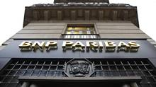 The entrance of a BNP Paribas bank branch is seen in central Paris in this file photo. (CHARLES PLATIAU/Reuters)
