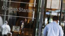 A man walks into the Morgan Stanley offices in New York January 18, 2012. (SHANNON STAPLETON/REUTERS)
