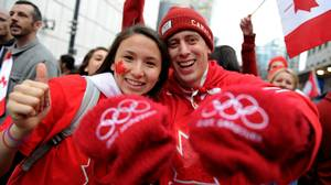 Vancouver's streets teemed with patriotism after Canada won men's hockey gold on Feb. 28.