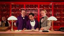 From left, Tom Wilkinson, Tony Revolori and Owen Wilson in The Grand Budapest Hotel. (Martin Scali/Fox Searchlight Pictures)