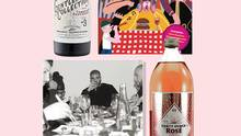 Lindeman's, maker of Gentleman's Collection wine (top left), Noble Rot magazine (top right), and a new rosé packed in a malt liquor bottle (bottom right) are trading on a growing millennial male appreciation for wine cultivated by the likes of Drake (bottom left). (Globe and Mail Update)