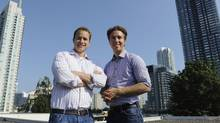 Craig, right, and Marc Kielburger. (Fred Lum/The Globe and Mail)