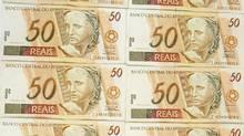 Brazil 50 real notes. Vinicius Ramalho Tupinamba/iStockphoto (Vinicius Ramalho Tupinamba/iStockphoto)