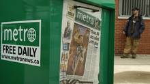 Metro newspaper boxes photographed at the Oakville GO Train station in Oakville, Ont. Oct. 20, 2006. (Kevin Van Paassen/The Globe and Mail)