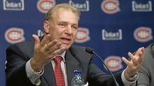 Michel Therrien gestures during a news conference in Brossard, Que., Tuesday, June 5, 2012, announcing him as new head coach of the Montreal Canadiens. (Graham Hughes/The Canadian Press)