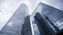 The glass-clad towers popping up in Toronto and Vancouver are not energy efficient, an expert claims. (Kevin Van Paassen For The Globe and Mail)