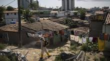 Brazilian health workers have been spraying for Aedes aegypti mosquitoes, but some health experts wonder if another mosquito specie should also be examined as a possible vector for the Zika virus. (Felipe Dana/AP)