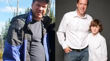 Jeff Day decided to lose 30 pounds in time for his son's birthday after an old acquaintance didn't recognize him. (Handout)