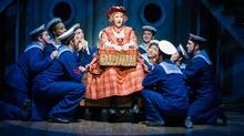 Lisa Horner as Little Buttercup with members of the company in the HMS Pinafore. (Cylla von Tiedemann)
