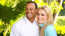 Tiger Woods and Lindsey Vonn (Tiger Woods Facebook page)