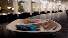 A kit of drug injection supplies is pictured at the Insite supervised injection clinic in Vancouver, B.C., on April 18, 2011. (DARRYL DYCK/THE CANADIAN PRESS)
