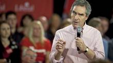Liberal leader Michael Ignatieff speaks during a campaign stop in London, Ont., on March 31, 2011 (GEOFF ROBINS/AFP/Getty Images)
