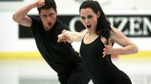 Ice Dancers Scott Moir and Tessa Virtue of Canada take part in a practice session in London, Ont. Tuesday, March 12, 2013 during he The ISU World Figure Skating Championships 2013. (Kevin Van Paassen/The Globe and Mail)
