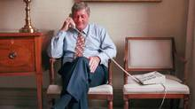 Mr. Harris, seen in 1995, outraged opposition parties that year with Bill 26, an omnibus bill he slipped onto the order paper. (MOE DOIRON/The Canadian Press)
