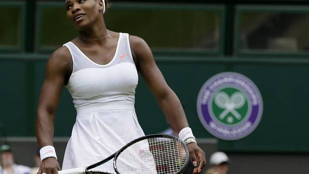 Serena Williams of the United States faces Sabine Lisicki of Germany in fourth round match at Wimbledon (Alastair Grant/AP)