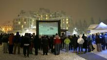 Something you'll never see at Cannes: A snowy outdoor screening at the Whistler Film Festival in 2007. (Andy Dittrich)