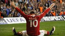 Manchester United's Wayne Rooney celebrates after scoring a goal (DYLAN MARTINEZ/REUTERS)